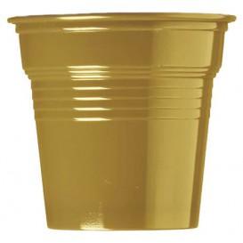 Plastic PS Shotje goud 80ml Ø5,7cm (50 stuks)