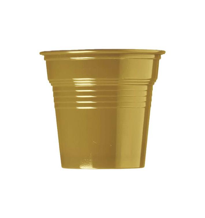 Gobelet Plastique PS Or 80ml Ø5,7cm (50 Utés)
