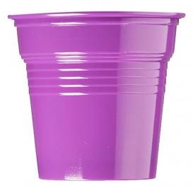 Gobelet Plastique PS Violet 80ml Ø5,7cm (1500 Utés)