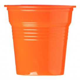 Gobelet Plastique PS Orange 80ml Ø5,7cm (1500 Utés)