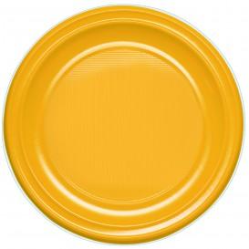 Plastic bord PS Plat mango 17 cm (1100 stuks)