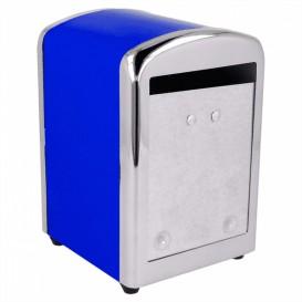 Distributeur à Serviettes Inoxydable Bleu 17x17cm (12 Utés)
