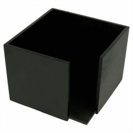 Bamboe Servet houder zwart 13,5x13,5x10cm (1 stuk)