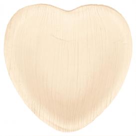 Palm blad bord Heart vormig 10x10x1,5cm (200 stuks)