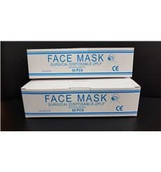 Masque Chirurgical Bleu 2 plis avec élastiques (1.000 Utés)