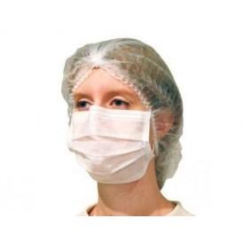 Masque Chirurgical Blanc 2 plis avec élastiques (1.000 Utés)