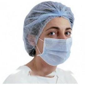 """Wegwerp chirurgisch masker Rechthoekige vorm """"TST"""" blauw 2C (1000 stuks)"""