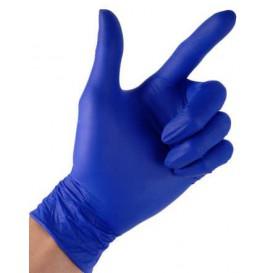 Gants en Nitrile sans Poudre Bleu Taille M 4,5G (100 Utés)