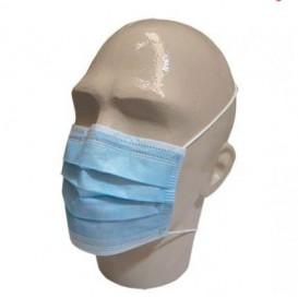 Masque Chirurgical Bleu 3 plis avec élastiques (50 Utés)