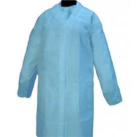 "Wegwerp-laboratoriumjas ""Cadete"" ""TST"" PP Velcro 35gr blauw (1 stuk)"
