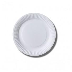 Assiette en Papier Biocoated Blanc Ø18cm (20 Unités)