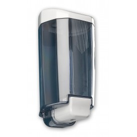 Plastic zeep dispenser ABS gerookt 1000ml (1 stuk)