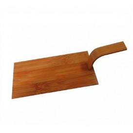 """Bamboe mini-schop dienblad Naturel """"Tapas"""" 10x5 cm (100 stuks)"""