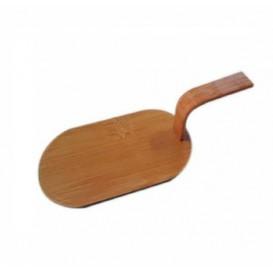 """Bamboe mini-schop dienblad Naturel """"Tapas"""" 8x5 cm (100 stuks)"""