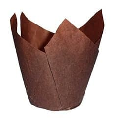 Caissette Muffin Tulipe Ø50x50/80 mm Marron (2000 Utés)