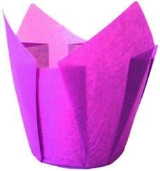 Caissette Muffin Tulipe Ø50x42/72 mm Violette (135 Utés)