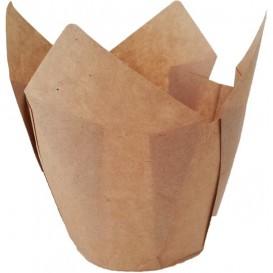 Cupcake vorm voering tulpvorm Nature Ø5x5/8cm (125 stuks)