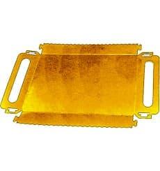 Plat rectangulaire Carton Doré Poignées 300x120x25 mm (100 Utés)