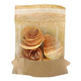 Papieren voedsel zak kraft zelfsluitend 14x16cm (4000 stuks)