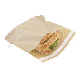 Papieren voedsel zak Autoseal kraft 21x17cm (2400 stuks)