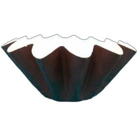 Bakvorm van papier bruin Ø8x6,5 cm (15 stuks)