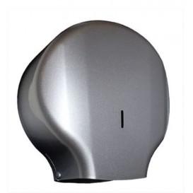 Plastic Papieren rol Dispenser 300m ABS zilver (1 stuk)