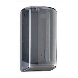 Plastic Bulk toiletpapier Dispenser Plat Z vouwbaar ABS Smoked (1 stuk)