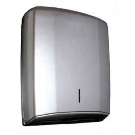 Plastic handdoek dispenser ABS Elegance zilver (1 stuk)