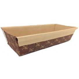 Bakvorm van papier kraft 12x8x2,5cm (50 stuks)