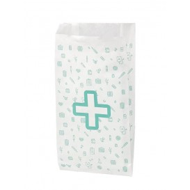 Papieren zak apotheek wit 14+7x24cm (125 stuks)