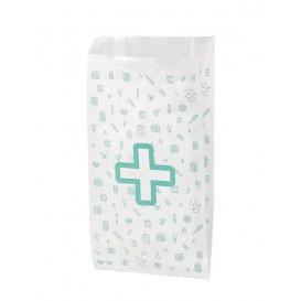 Sac Papier Blanc Pharmacie 14+7x27cm (125 Utés)