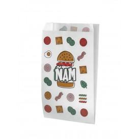 Papieren hamburgerbox Vetvrij Design 14+5x23cm (125 stuks)