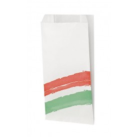Papieren hamburgerbox Vetvrij Design 14+7x27cm (1000 stuks)