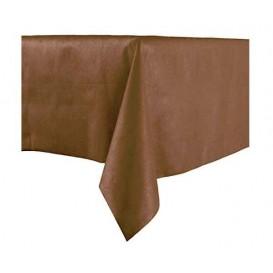 Tafelkleed Novotex niet geweven bruin 100x100cm (150 stuks)