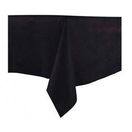 Tafelkleed Novotex niet geweven zwart 100x100cm (150 stuks)