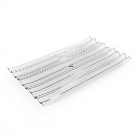 """Assiette Dégustation PS """"Bamboo"""" Transp. 10x6cm (50 Utés)"""