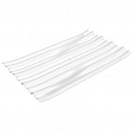 """Assiette Dégustation PS """"Bamboo"""" Blanc 10x6cm (50 Utés)"""
