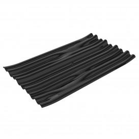 """Assiette Dégustation PS """"Bamboo"""" Noir 10x6cm (50 Utés)"""
