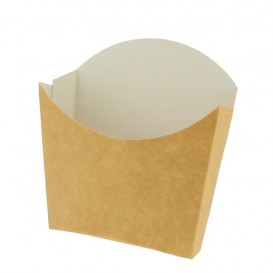Papieren Container voor frietenkraft klein maat 8,2x2,2x9cm (600 stuks)