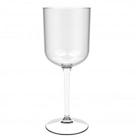 """Flûte Réutilisable Vin """"Bio Based"""" Tritan Transp. 420ml (6 Utés)"""