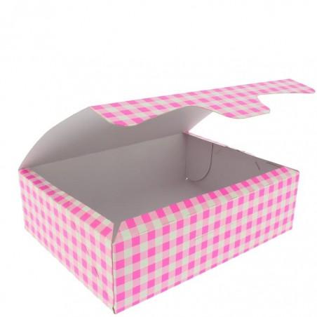 Boîte pâtissière 18,2x13,6x5,2cm 500g Rose (250 Unités)