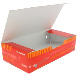 Papieren take-out doos groot maat 2,00x1,00x0,50cm (25 stuks)