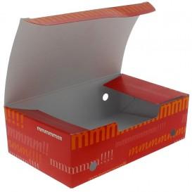 Papieren take-out doos medium maat 1,45x0,90x0,45cm (25 stuks)