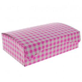 Boîte pâtissière 17,5x11,5x4,7cm 250g Rose (20 Unités)
