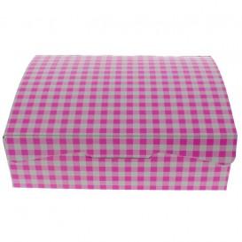 Boîte pâtissière 20,4x15,8x6cm 1Kg Rose (20 Unités)