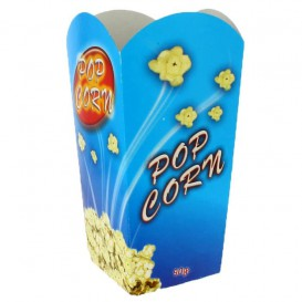 Papieren Popcorn doosje medium maat 90gr 7,8x10,5x18cm (25 stuks)