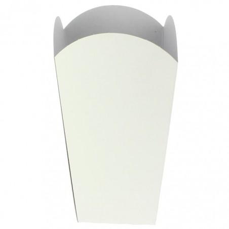 Etuis à Pop-Corn Moyen Blanc 90 gr 7,8x10,5x18cm (25 Unités)