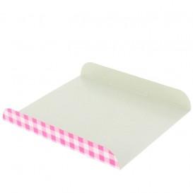 Papieren dienblad voor wafel roze 15x13cm (2000 stuks)
