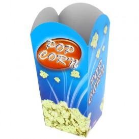 Papieren Popcorn doosje klein maat 45gr 6,5x8,5x15cm (25 stuks)