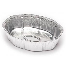 Folie pan voor gebraden kip Ovaal vormig 1900ml (125 stuks)